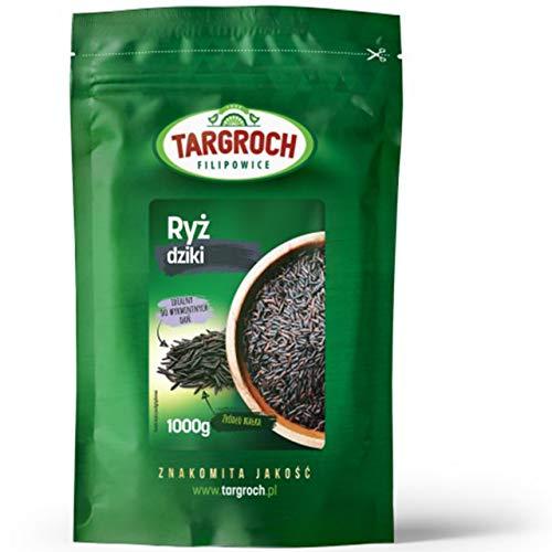 Targroch Wildreis 1er pack x 1000g - Zizania Aquatica - Für Salate und Vegane Gerichte