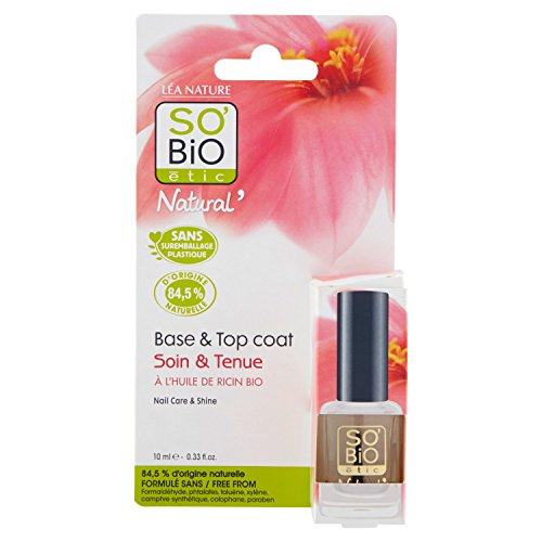 SO'BiO étic Tenue & Soin Vernis à Ongles Base Top Coat 10 ml