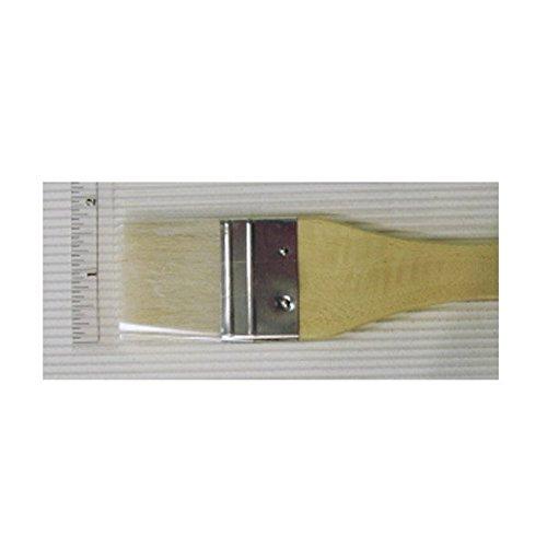 Yasutomo Hake Flat Wash Brush with Metal Ferrule, Sheep Hair Bristles, 1 3/4 inch (BFC3)