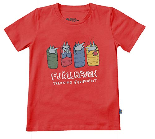 FJÄLLRÄVEN Kinder Kids Sleeping Foxes T-Shirt, Red, 140
