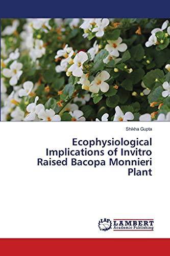 Ecophysiological Implications of Invitro Raised Bacopa Monnieri Plant