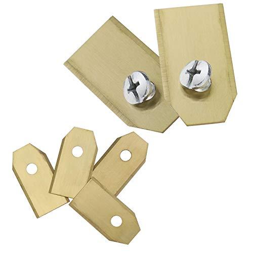 creative-idea 30pcs cortacésped cuchillas de repuesto 0.45mm/0.75mm titanio Enduit Lawnmower con tornillo para Husqvarna, 0.45mm