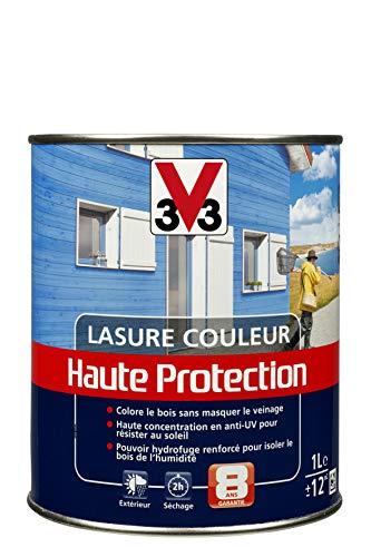V33 Lasure haute protection couleur, Rouge Basque 1L