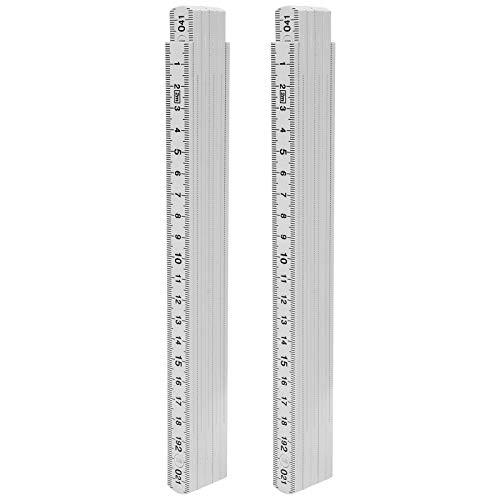 Regla plegable, herramienta de medición de diseño de bloqueo portátil multiángulo de 2 piezas, proyectos de bricolaje de medición submarina de 2 m para carpintería y colocación de azulejos