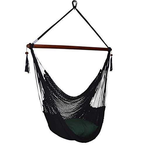Large Caribbean Hammock Chair - 48 Inch - Polyester - Hanging Chair - rainbow