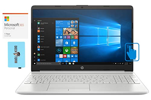 HP 15-dw2025cl Home and Business Laptop (Intel i5-1035G1 4-Core, 32GB RAM, 1TB SATA SSD, Intel UHD Graphics, 15.6' Touch HD (1366x768), WiFi, Bluetooth, Win 10 Pro) with Microsoft 365 Personal, Hub