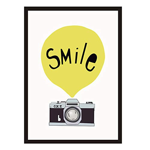Retro Camera Ballon Smile Wall Art Canvas Print Poster Muurfoto's voor Woonkamer Home Decor -50x70cmx1pcs -Geen Frame