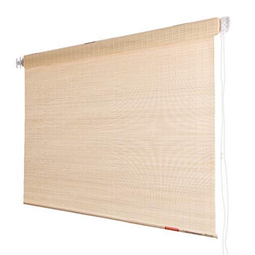 Cycfa Rolgordijn van bamboe, zonder boren, rolgordijnen van bamboe, voor ramen en deuren