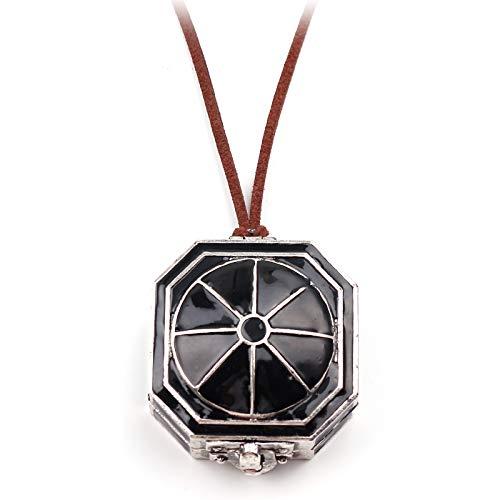 DTKJ Film Fluch der Karibik Kompass Anhänger Halskette Jack Sparrows Magic Compass Schmuck Zubehör Geschenke für Fans
