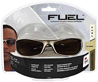 3M Fuel Sport High Performance Safety Eyewear, Silver and Black Frame, Gray Mirror Lens