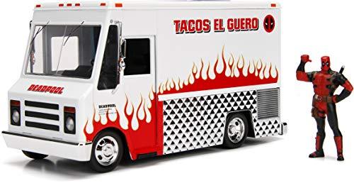 Jada JA99730 1:24 Taco Truck und Deadpool Figur, Mehrfarbig