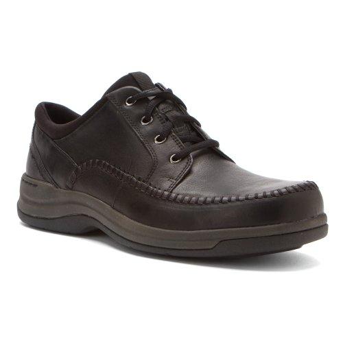 Clarks Men's Portland 2 Tie Casual Shoe,Black Leather,7.5 M US