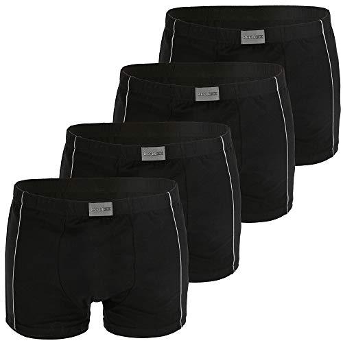 REFLEXX Boxershorts Herren schwarz - 4er oder 8er Pack Herren Boxershort mit 95% Baumwolle - Übergrößen 2XL 3XL 4XL (Gr.9 / XXXL, 4er Pack schwarz)