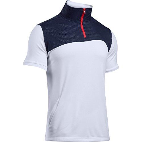 Under Armour - T-shirt Stephen Curry Under armour Trey Area fermeture zippé 1/4 Blanc pour homme taille - S