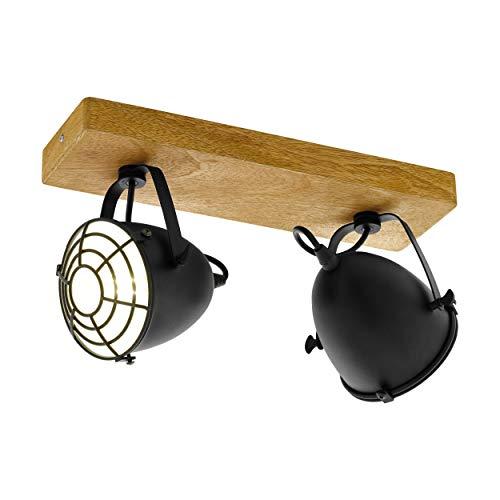 Preisvergleich Produktbild EGLO GATEBECK Spot,  Deckenleuchte 2-flammig Holz,  40 W,  natur