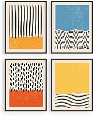 Modern Abstract Wall Art Prints by Haus and Hues Modern Prints Wall Art Mid Century Modern Abstract product image