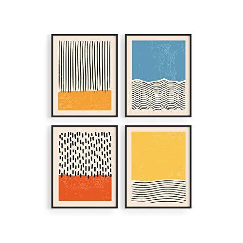 """HAUS AND HUES Modern Abstract Wall Art Prints Modern Prints Wall Art   Mid Century Modern Abstract Art Prints   Abstract Posters Abstract Prints Modern Mid Century Wall Art, (8""""x10"""" UNFRAMED)"""