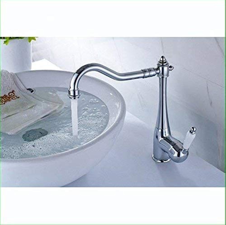 360° Drehbar Wasserhahn Küchenarmaturen Aus Massivem Messing-Chrom-Spültischmischer Für Heies Und Kaltes Wasser Badezimmer-Modernes Waschbecken Mit Drehbarem Auslauf (Farbe  -, Gre  -)