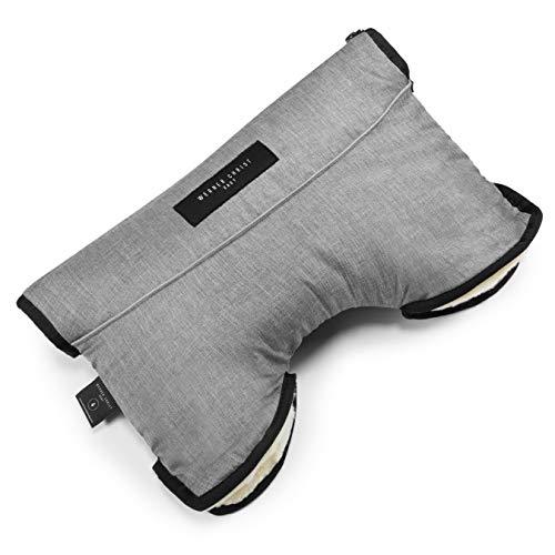 Kinderwagen-Muff aus Lammfell von WERNER CHRIST BABY - MOFFY ist der ideale Handwärmer für Buggys beim Spazieren, medizinisches Fell, einfache Handhabung, Handmuff in grigio (grau meliert)