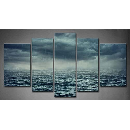 STORMY SEA QUALITY MODERN CANVAS PICTURE WALL ART READY TO HANG