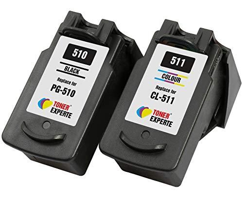 PG510 PG-510 CL511 CL-511 TONER EXPERTE 2 XL Cartuchos de Tinta compatibles para Canon Pixma MP230 MP240 MP250 MP260 MP270 MP280 iP2700 iP2702 MP480 MP490 MP495 MP499 MX320 MX350 | Alta Capacidad