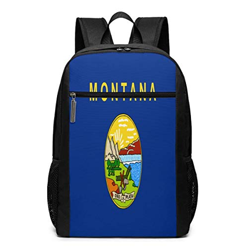 HuangYongHongPODFPO Montana Flag Laptop Backpack 17-Inch Travel Backpack Bookbag Bussiness Bag