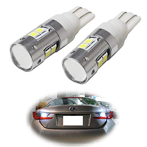iJDMTOY (2) SAMSUNG 2835-SMD 906 912 920 921 W16W LED Bulbs For Car Backup Reverse Lights Replacement, Xenon White