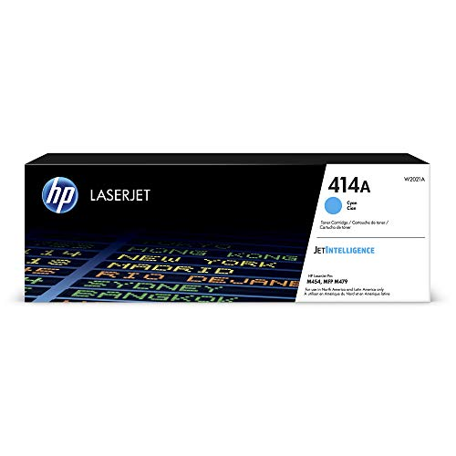 HP 414A | W2021A | Toner Cartridge | Cyan | Works with HP Color LaserJet Pro M454 series, M479 series