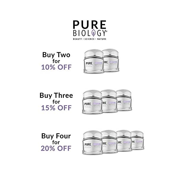 Anti aging products Pure Biology Premium Night Cream Face Moisturizer with Clinically Studied Syn-Coll,