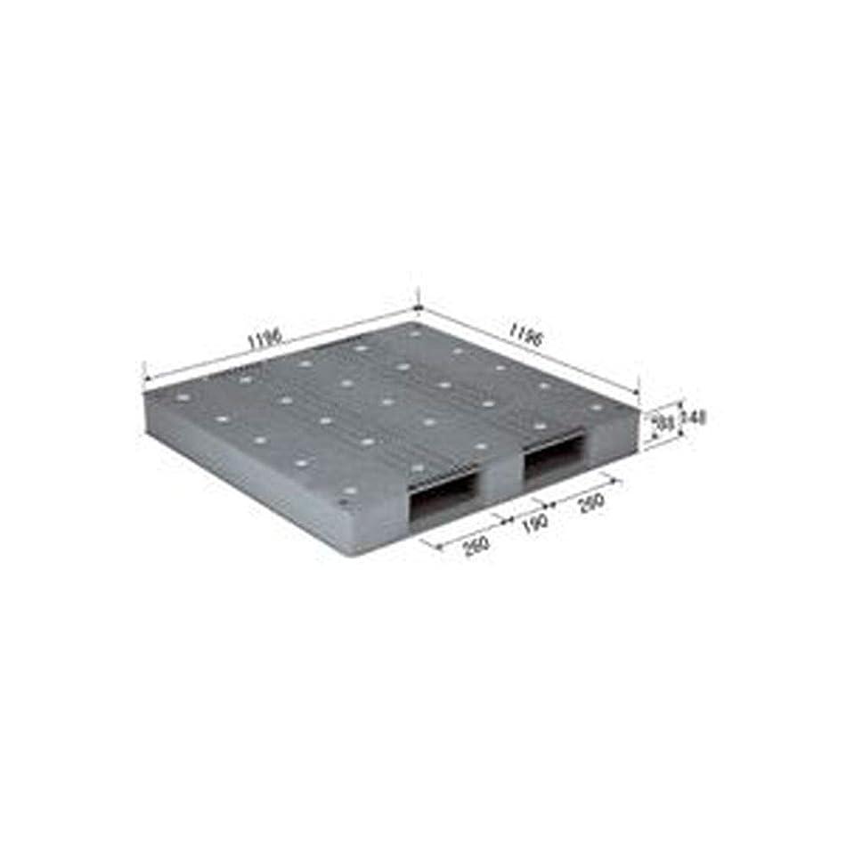 サルベージ液化するハッピー三甲 - サンコー - / プラスチックパレット/プラパレ / - 片面使用型 - / D-1212-2 / - PP - / グレー - 灰 - - -
