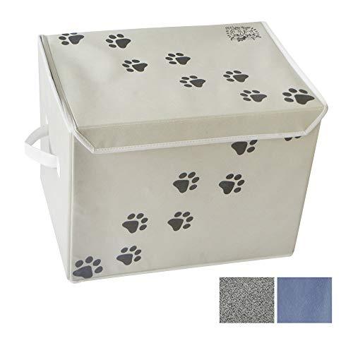 Feline Ruff Große Hunde Spielzeug Aufbewahrungsbox 40,6x 30,5cm Pet Spielzeug Aufbewahrungskorb mit Deckel. Ideal Faltbare Leinwand Abfalleimer für Cat Toys und Accessoires zu.