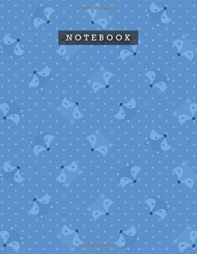 Notebook Bleu De France Color Smile Foxes Patterns Cover Lined Journal: 8.5 x 11 inch, A4, 110 Pages, 21.59 x 27.94 cm, Meal, Personal, Do It All, Weekly, Diary, Planning
