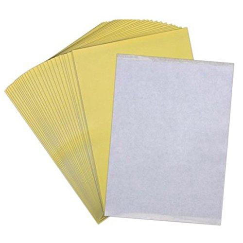 VORCOOL Lot de 50 Feuille Papier de Transfert Thermique Tatouages Temporaires