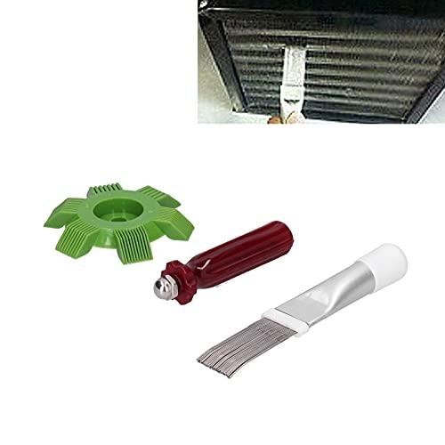 SHYEKYO Pettine ad Alette del condensatore, Strumento per la Pulizia dell'Aria condizionata Duro e Lucido per la Pulizia del radiatore del condensatore dell'Aria condizionata per Uso Domestico