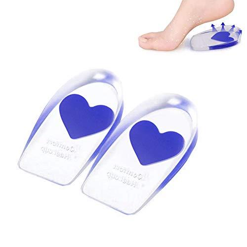 Almohadillas de gel para el talón, un par de plantillas de silicona para el cuidado de los pies, talla S, almohadilla de silicona para el talón, corazón de amor
