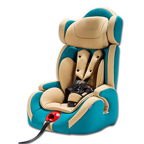 WWLONG Cómodo Asiento para automóvil para niños,Asiento de Seguridad para niños con Interfaz Suave isofix para automóvil,Asientos de Coche para niños Menores de 12 años,9-36 kg,Verde Oliva-NoISOFIXin