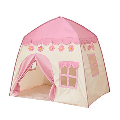 PrittUHU Pieghevole Bambini Tenda Baby Play House Big Room Flowers Blooming Tipi Tipi Tenda per Indoor Tenda Gift Bambini Giocare all'aperto Teepee (Color : Pink Tent)