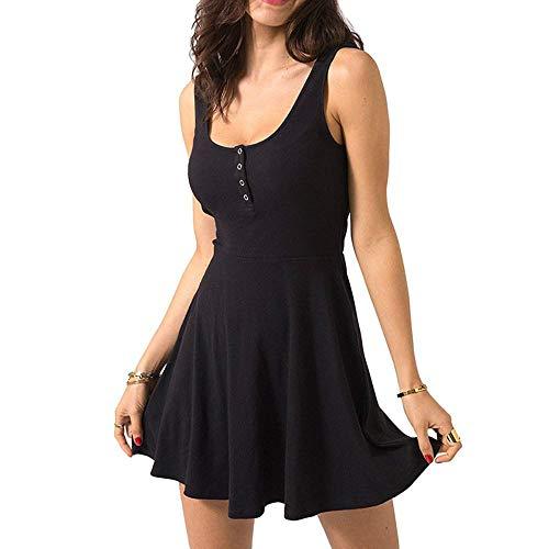 Sexy Bandage-Kleid, schwarz, Sommerstrumpfhose, Minirock, Taille, Weste, Slim-Fit, Lautsprecher, Skateboard, solide Freizeitkleidung für Frauen Gr. Small, Schwarz