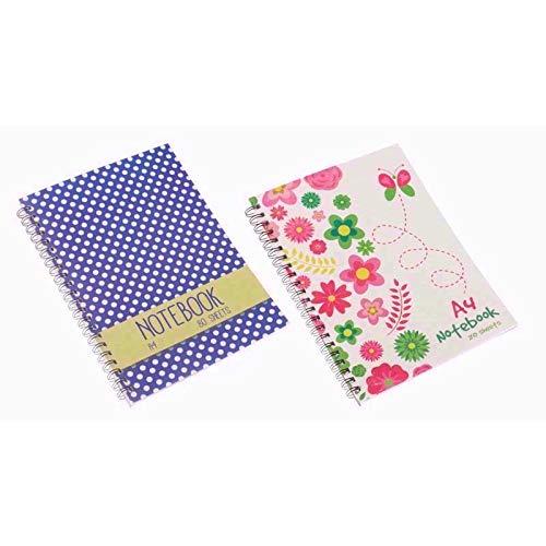 Invero Notizbuch mit Spiralbindung, A5, Kunststoff, liniert, 120 Seiten pro Block,...