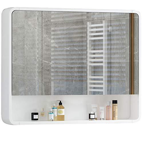 Conemmo Badkamer spiegelkast wandbadkamerspiegel met rek toilet waterdichte spiegel toilet badkamerspiegel box met afgeronde hoeken