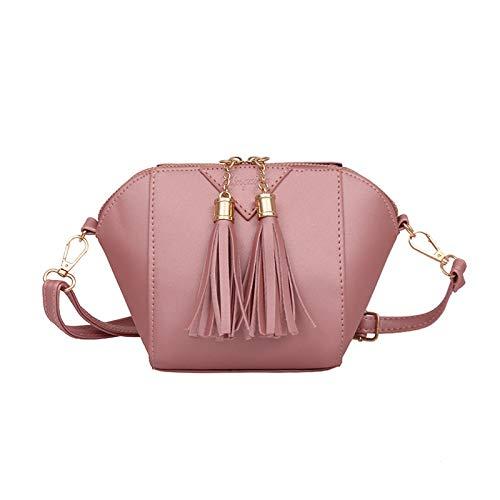 Bolsa de hombro simple de moda Bolsa de mensajero Bolsa de cambio de borla Rosa