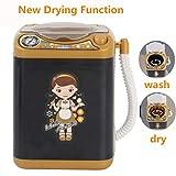 Mikiya Mini lavatrice Mini lavatrice Waschmaschine Puppenhaus Spielzeug Sehr Nützlich Waschen Make-up Pinsel (Nero)
