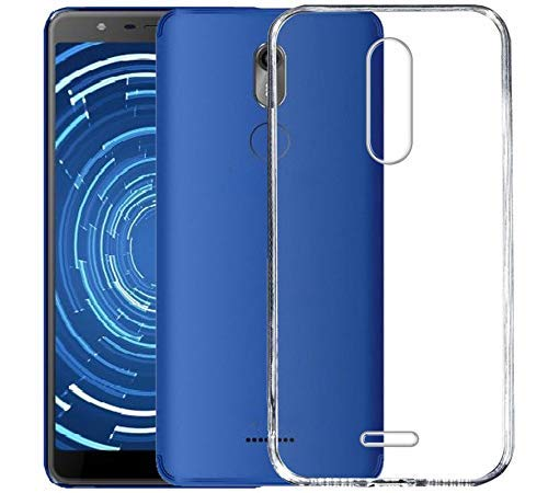 FCS Crystal Case for Panasonic Eluga Ray 530 Soft Flexible TPU Silicone Back Door Protective Cover - Transparent