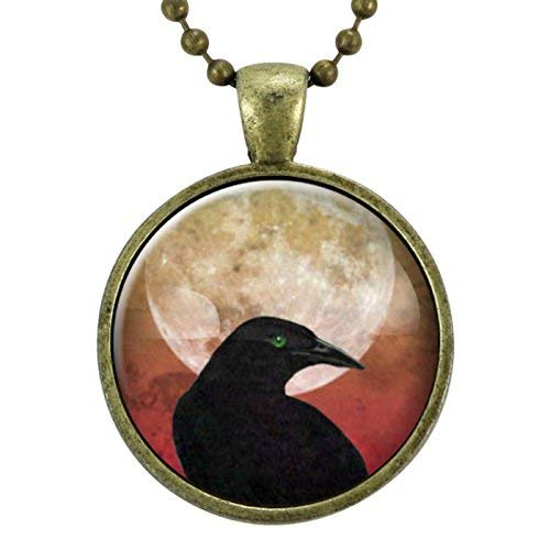 Crow Necklace, Gothic Black Raven Necklace, Goth Jewelry, Halloween Necklace, Wicca, Celtic, Odin's Ravens, Viking Raven