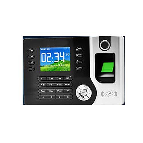 HEQIE-YONGP Timeuhren für Mitarbeiter Kleinunternehmen 2,4-Zoll-TFT-biometrische Fingerabdruck-Zeit-Anwesenheits-Maschine ID-Kartenleser TCP/IP-Mitarbeiter Sign-in Recorder Time Clock