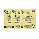 Vagad's Khadi Combo Black Mehndi Ammonia Free Henna 300 gm Pack of 3