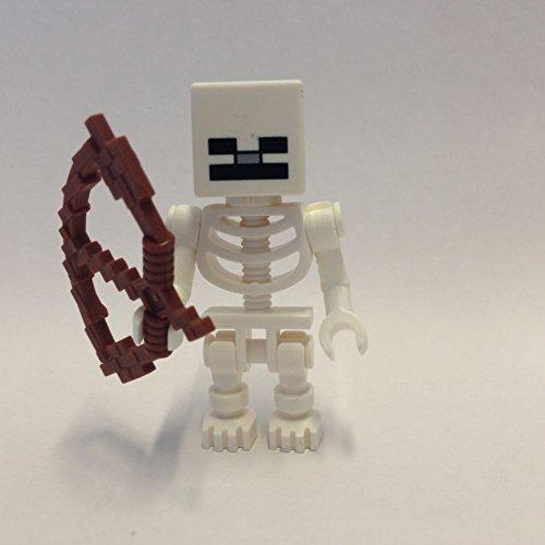 maisterkaio-de Lego Figur Skelett -- Minecraft -- (aus Set 21114/ 21144/ 21146/ 21162, kompatibel mit Anderen Lego)
