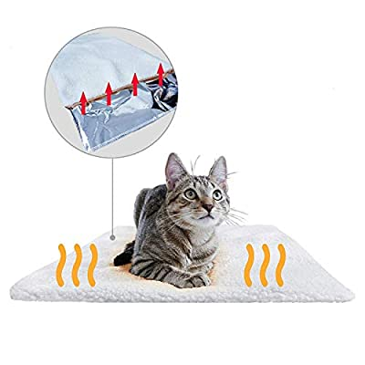 PiuPet® Self Heating Blanket for Dogs & Cats, Self Warming Pet Mat, Cosy & Pet-Friendly, Size: 60x45cm from BranMic Products