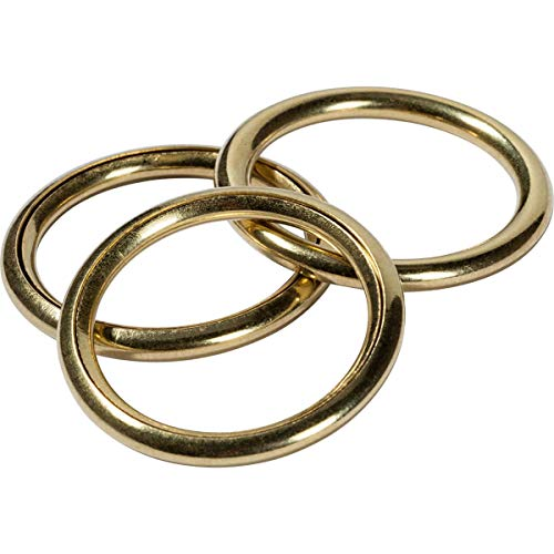 Prym 521113 Hollow Rings Brass 15/20 mm Gold col