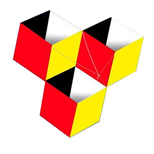 FFSM Original Kite, Kids Kite Kites For Kids Easy To Fly With Outdoor Sports3D Single Line Red Yellow Kites Easy to fly (Color : Red) plm46 (Color : Red)